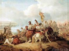 Dietrich Monten - Kampf zwischen österreichischer Kavallerie und französischer Infanterie