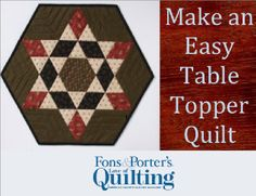 In this episode, Marianne and Mary Fons work with a nifty pattern that appears much harder than it actually is. #FonsandPorter #tabletopper #quiltproject #smallproject