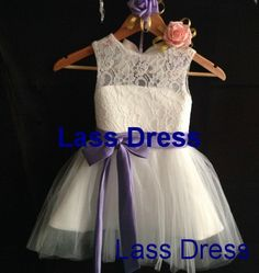 Custom Make Ivory Tulle Lace Flower Girl Dress Infant by lassdress, $45.00