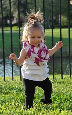 Purple Chevron Toddler Infinity Scarf