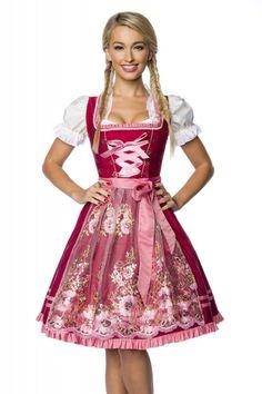 Luxus Designer #Dirndl mit Stickereien in rosa Rot - Kleidung ...