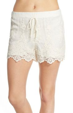 Band of Gypsies Embroidered Mesh Shorts available at #Nordstrom