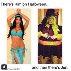 Lol haha funny pics / pictures / Kim Kardashian / Jennifer Lawrence / Halloween Costumes