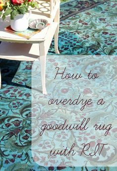 How to Over dye a rug with RIT