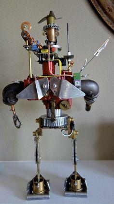Steampunk Robot Sculpture by RMS-Robots
