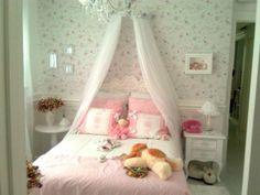 Papel de parede florido apra quarto de menina  - Imagem para papel de parede