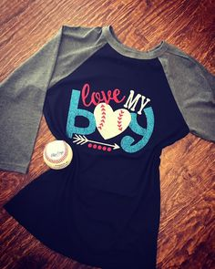 Baseball Alley Designs - Love My Boy Baseball Tee, $30.00 (http://baseballalley.net/love-my-boy-baseball-tee/)
