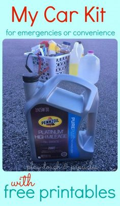 15 Items I Make Sure Are In My Car For Emergencies and Convenience - Free Printable for Car Kit Supply List & In The Car Find & Seek Game Printable For Kids. Car Entertainment for Kids. www.playdoughandpopsicles.com #ad #DotComDIY