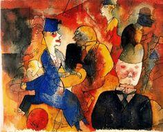 George Grosz,Café (1919)