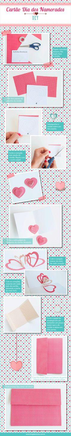 DIY- Cartão de dia dos namorados feito por você - Blog da Mimis - Dia dos namorados está chegando e todo mundo quer demonstrar seu amor ao outro. E por isso hoje eu vou ensinar a fazer um cartão super fofo para presentear o love. É super fácil e vale para outras ocasiões também!