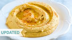 Easy Hummus Recipe (Better Than Store-Bought) - How to make our easy hummus recipe with canned chickpeas, garlic, tahini, and olive oil. With easy - Easy Hummus Recipe, Tahini Recipe, Make Hummus, Recipe Recipe, Homemade Tahini, Homemade Hummus, Homemade Guacamole, Guacamole Recipe, Vegetarian