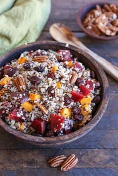 Roasted Butternut Squash & Beet Quinoa Stuffing - Love Beets