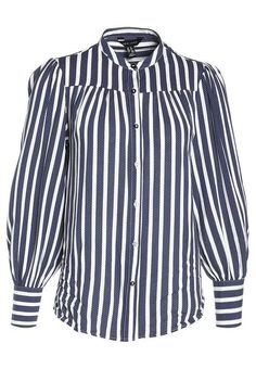 New Look PETER STRIPE YOKE SWING Shirt blue rzc_19337_4.jpg (480×692)