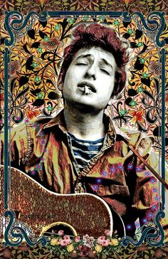 Bob Dylan - full-color 11x17 poster - vivid colors - very detailed