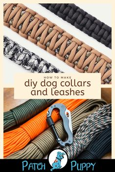 Every wondered how to make dog collars and leashes? What is the best material for a dog collar? Check out our post DIY Dog Collars and Leashes to learn how to make a DIY Leather Dog Collar from a Belt and How to make a Dog Leash out of Fabric. Diy Leather Dog Collar, Diy Dog Collar, Collar And Leash, Handmade Dog Collars, Paracord Dog Leash, Rope Dog Leash, Pekinese, Dog Collars & Leashes, Dog Crafts