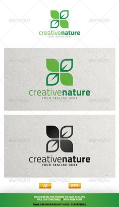 Creative Nature Logo — Vector EPS #flowers company #medical charity • Available here → https://graphicriver.net/item/creative-nature-logo/7681907?ref=pxcr