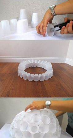Diy Projects: Snowman out of Plastic Cups