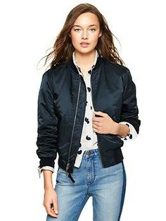 Calvin Klein Perforated Faux-Leather Bomber Jacket - Jackets
