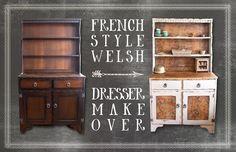 French Style Welsh Dresser Makeover