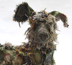 Shaggy Dog textile sculpture by Barbara Franc