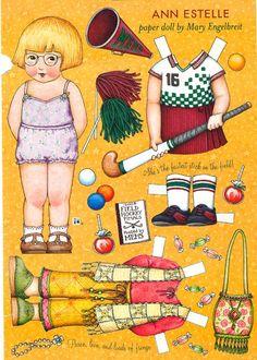 Paper Doll by Mary Engelbreit Ann Estelle Plays Hockey