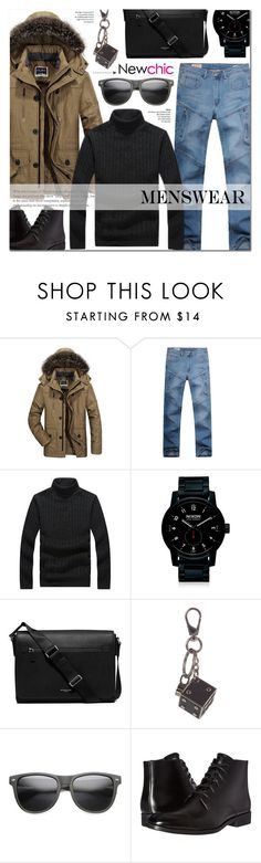 """""""Newchic 16"""" by anyasdesigns ❤ liked on Polyvore featuring Nixon, Michael Kors, Tod's, ZeroUV, Calvin Klein, men's fashion and menswear"""