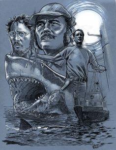 Jaws inspire les graphistes : Jeff West.