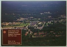 Aerial View Fort Lee Virginia Army Continental Size Postcard