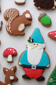Gnome & Woodland Decorated Cookies  Sweetopia