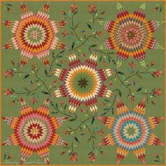 "Laundry Basket Quilt of the Day - ""Pennsylvania Star"" #quiltoftheday #edytasitar #laundrybasketquilts"