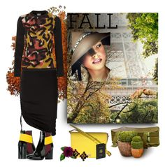 """""""i love paris in the fall"""" by art-gives-me-life ❤ liked on Polyvore featuring Pierre Balmain, Just Cavalli, Pollini, Dolce&Gabbana and Royce Leather"""