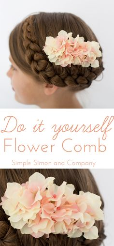 Easy Flower Comb DIY - Simple Simon and Company