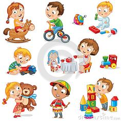 Pièce d enfants avec des jouets