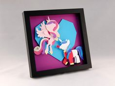 3D MLP Princess Cadance and Shining Armor by EclecticElathera, $68.00