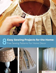 The new AllFreeSewing eBook, 8 Easy Sewing Projects for the Home: Free Sewing Patterns for Home Decor is full of home decorating patterns and simple ideas of DIY home decoration ideas we think you'll love. It's time to put your sewing machine to the test. By creating a living space that shows off your sewing abilities and creativity you'll be able to express your crafty side while also saving money.