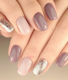 30 trendy glitter nail art design ideas for With glitter nails, brighten up your summer looks. Manicure Nail Designs, Nail Manicure, Nails Design, Shellac Pedicure, Pedicure Ideas, Shellac Designs, Pedicure Designs, Scholl Velvet Smooth, Mauve Nails