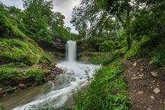 Manehaha falls beautiful places in America