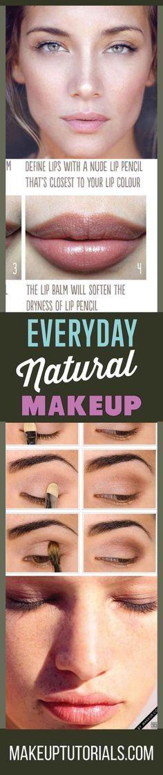 How To Do Everyday Natural Makeup Tutorial | No Makeup Look Makeup Tutorials By Makeup Tutorials. http://makeuptutorials.com/everyday-natural-makeup-tutorials/