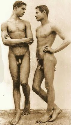 Excellent 19th century nude men