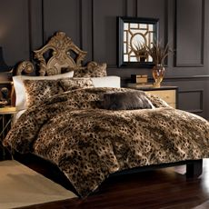 Possible Duvet cover set- BBB- Lynx Faux Fur Duvet Cover Set.  Not crazy about this one, but want an animal print!