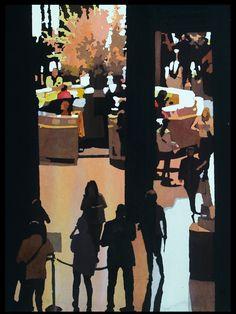 Contemporary Watercolor paintings by Mark Mehaffey.  Just arrived.  #homedecor #visitmet #paintings #black