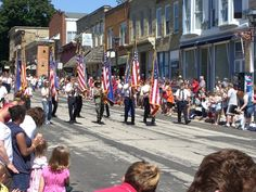 Color Guard at the Fourth of July parade in Mineral Point, Wisconsin