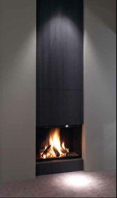 vertical fireplace metalfire