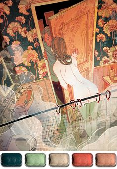 Illustration Friday :: The Artist's Palette - Victo Ngai