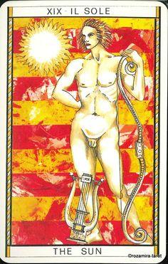 XIX. The Sun - Tarocco Mitologico by Amerigo Folchi
