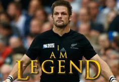 """All Blacks rugby captain Richie McCaw """"I am Legend"""" poster created by Gordon Tunstall using Adobe Photoshop."""