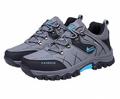 Ben Sports Mens Grey Blue Fashion Trail Running Hiking Shoe Outdoor Shoes ** Read more  at the image link. Note: It's an affiliate link to Amazon