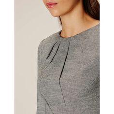 BuyKaren Millen Tailored Folded Collection Dress, Grey, 8 Online at johnlewis.com
