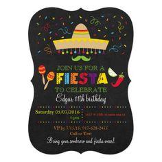 """Invitaciones del cumpleaños de la pizarra de la invitación 5"""" x 7"""""""