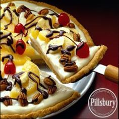 Banana Split Dessert Pizza from Pillsbury Baking